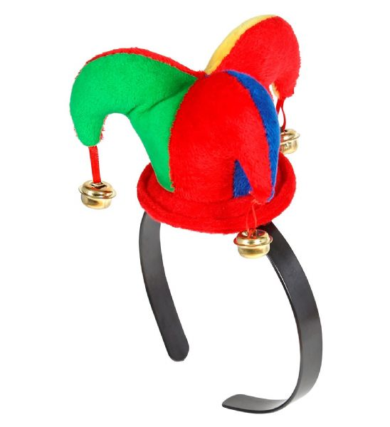 Adults Mens Mini Jester Hat Circus Fancy Dress Hat